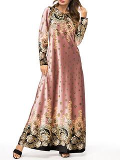 Muslim Print Maxi Dress -US$49.00