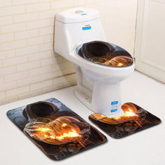 3Pcs Halloween Pumpkin Lantern Bathroom Mat-US$11.19