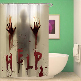 Halloween Bloody Hands Helps Shower Curtains -US$22.90
