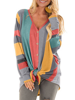 Colorful Striped Casual Shirt -RM136.98