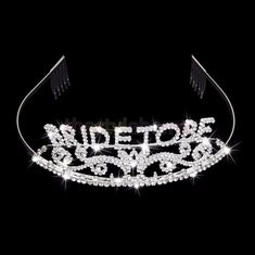 Wedding Headband Bachelorette Sparkle Tiara Hen Party Crown Bride Bridal Shower Supply-RM47.16