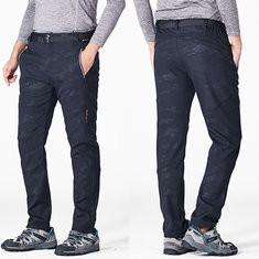 Camo Fleece Lining Elastic Outdoor Pants-US$33.99