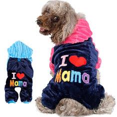 2 Colors Fleece Warm Pet Dog Hoody-US$12.85