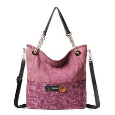 Women Canvas Handbag PU Leather Crossbody Bag -RM167.02