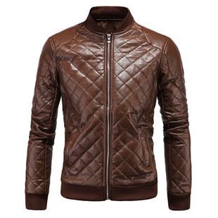 Moto PU Leather Casual Zipper Jacket -US$44.88