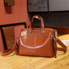 Women Large Capacity Solid Boston Handbag-RM144.78