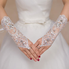 Bride Long Lace Fingerless Gloves-RM33.38