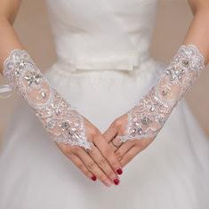 Bride Long Lace Fingerless Gloves-RM33.38