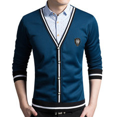 Thermal Polar Fleece Fake Two Pieces Shirt-US$29.99