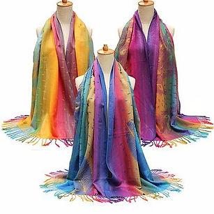 Women Cotton Bohemian Style Scarves Stole Shawl Wrap Scarf -RM40.95
