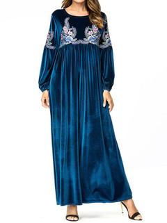Long Sleeve Islam Muslim Long Dress -US$46.80