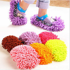 1 Piece Mop Shoe Cover Dusting Floor Cleaner Cleaning Lazy Slippers-US$2.64