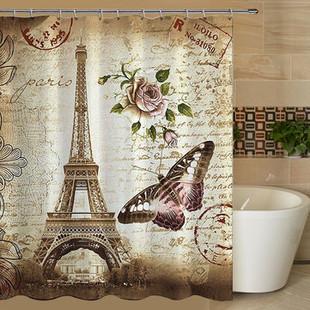 180x200cm Paris Bathroom Shower Curtain -US$18.02