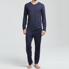 Mens Autumn Warm Modal Pajam Sets-US$29.99