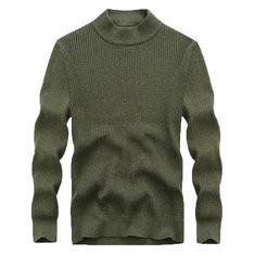 High Collar Pullover Casual Sweater-US$37.21