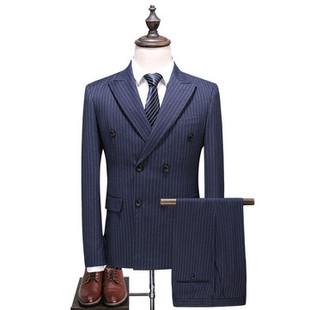 Mens Business Breathable Stripe Blazer -US$141.45