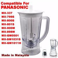 BLENDER JUG BIG 1080 FOR PANASONIC MX-GM1011H, MX-800S, MX-801S, MX-900M, MX-337, MX-898M, MX-SM1031S, MX-GM0501, MX-799S RM26.46