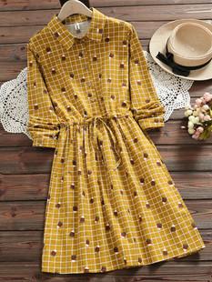 Pencil Plaid Print Drawstring Dress -US$43.99