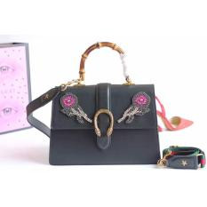Gucci Dionysus Embroidered Leather Top Handle Bag Black RM1,300.00