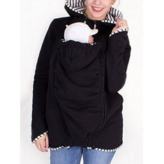 Hooded Coat For Mom And Baby Carrier-US$29.99