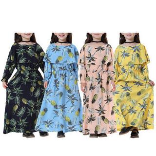 Muslim Abaya Islamic Girls Dress For 2-15Y -US$24.66