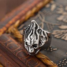 Vintage Flame Skull Rings-RM29.99