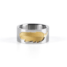 Unisex Feather Stainless Steel Ring-US$25.33