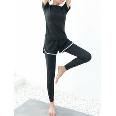 Solid Color Quick-drying Exercise Tracksuit-RM90.31
