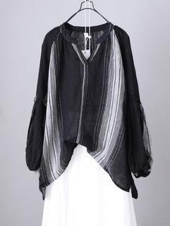 Retro Striped Pullover Shirt -RM124.14