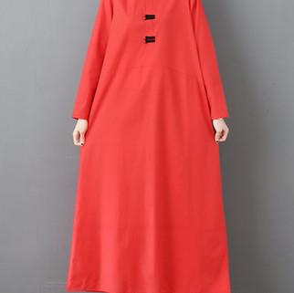RM123.22 - Vintage Buckle Long Dress