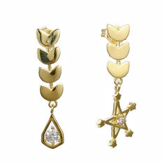 JASSY® 925 Silver Stars Wheat Gold Earrings-US$24.74