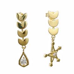 JASSY® 925 Silver Stars Wheat Gold Earrings-US$24.74