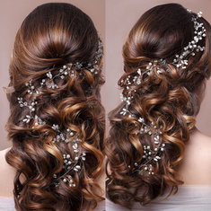 Bride Flower Pearl Headpiece-RM105.69