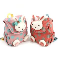Kindergarten Kids Lovely Cartoon Cotton Backpack Walking Safety Harness Bag-US$15.20