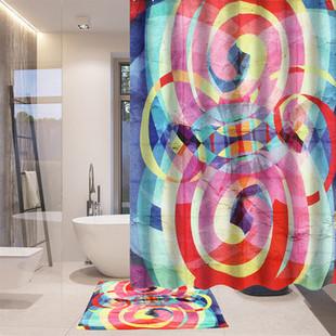 180*180 cm Gradient Pink Glitter Shower Curtain -US$22.80