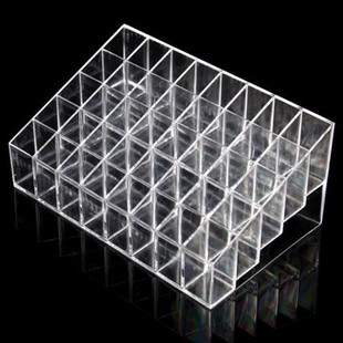 Clear Acrylic 40 Grids Lipstick Holder Stand Di-RM85.71