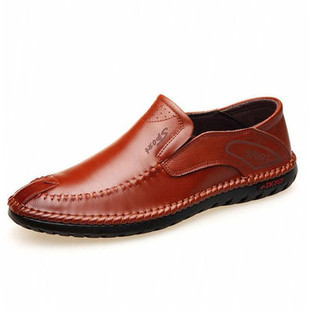 Men Hand Stitching Leather Loafers -US$44.45