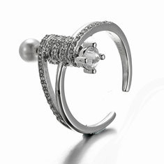 JASSY® Luxury 925 Silver Zircon Pearl Ring -US$25.73