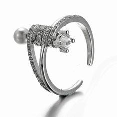 JASSY® Luxury 925 Silver Zircon Pearl Ring -US$25.73