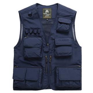 Loose Multi Pockets Vest-US$31.17