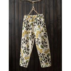 Print Thick Cotton Pants-RM162.99
