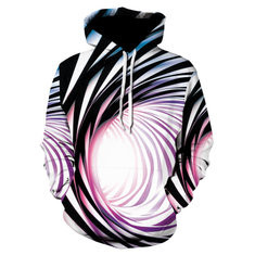 3D Abstract Pattern Big Pocket Hoody for Men-US$24.04