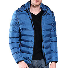 Men's Casual Soft Slim Fit Hooded Down Coat-RM167.15