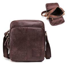 Men Genuine Leather Cowhide Crossbody Bag-US$59.68