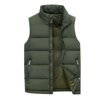 Men's Thicken Solid Color Casual Down Vest-US$28.19