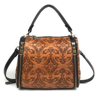 Women Genuine Leather Retro Bucket Handbag -US$59.52