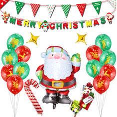 Santa Claus Balloon Set -US$14.90