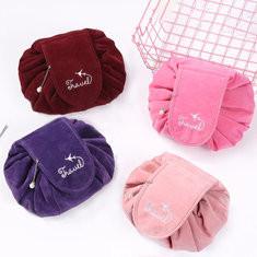 Velvet Drawstring Cosmetic Bag-US$9.29