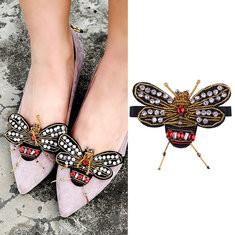 2 Pcs/Pair Diamond Bee Shoes Decoration-US$20.78