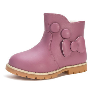 Girls Bowknot Lovely Warm Short Boots -US$23.56